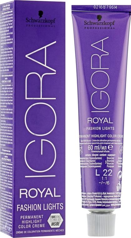 Перманентная крем-краска - Schwarzkopf Professional Igora Royal Fashion Lights