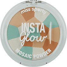Духи, Парфюмерия, косметика Пудра-мозаика для лица - Miss Sporty Insta Glow Mosaic Powder