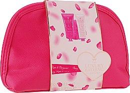 Духи, Парфюмерия, косметика Набор - Grace Cole The Luxury Bathing Peony, Rose & Bergamot (sh/gel/100ml + b/cr/50ml + bag + sponge)