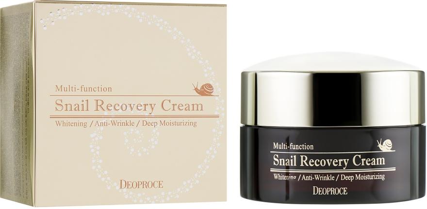 Восстанавливающий крем для лица с муцином улитки - Deoproce Snail Recovery Cream
