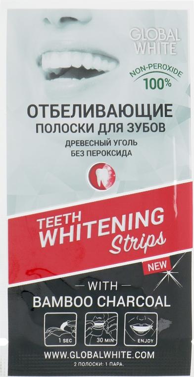 """Отбеливающие полоски для зубов """"Древесный Уголь"""" - Global White"""