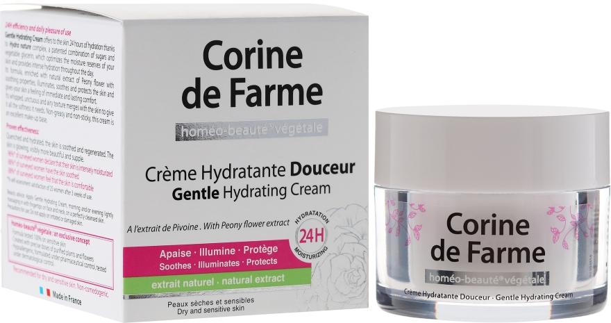 Нежный увлажняющий крем для сухой и чувствительной кожи - Corine de Farme