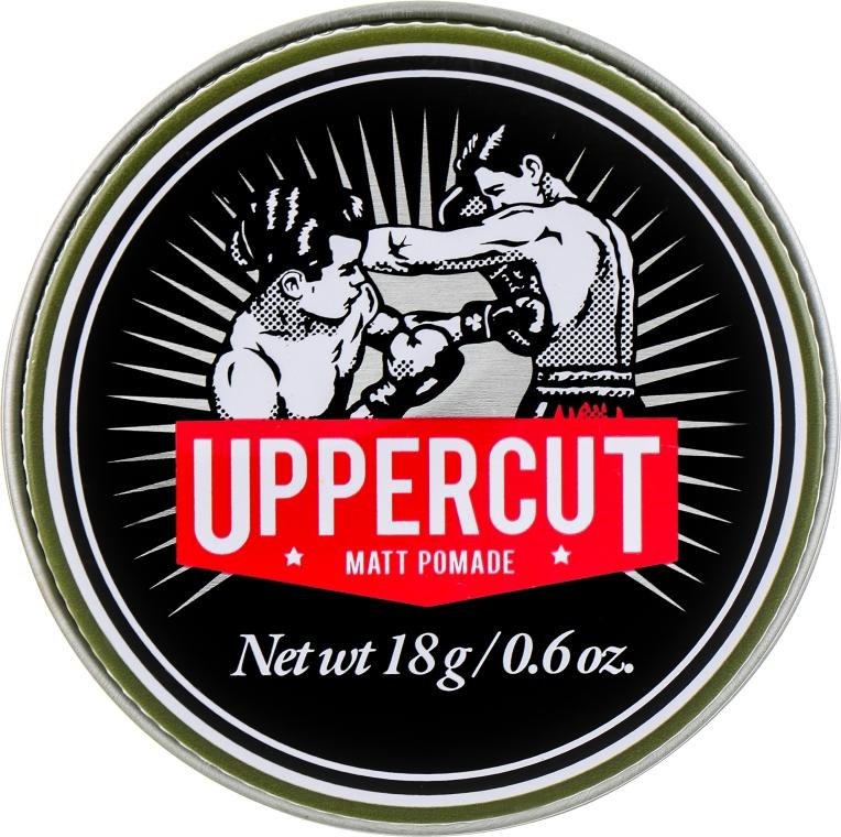 Матовая помада для волос средней фиксации - Uppercut Deluxe Barbers Collection Matt Pomade (мини)