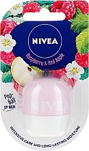 Духи, Парфюмерия, косметика Бальзам для губ - Nivea Pop-Ball Raspberry & Apple Lip Balm