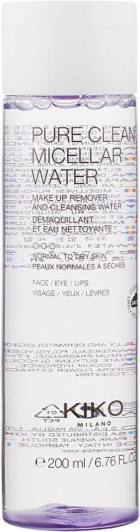 Мицеллярная вода для сухой и нормальной кожи - Kiko Milano Pure Clean Micellar Water