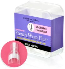 Парфумерія, косметика Тіпси широкі - Dashing Diva French Wrap Plus Double Wide White 50 Tips (Size - 11)