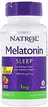 Духи, Парфюмерия, косметика Мелатонин быстрорастворимый, 1 mg клубника - Natrol Melatonin Sleep