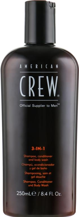 Средство 3-в-1 по уходу за волосами и телом - American Crew Classic 3-in-1 Shampoo, Conditioner&Body Wash
