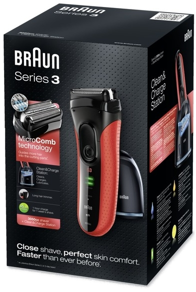 Електична бритва - Braun Series3 3050cc r — фото N1