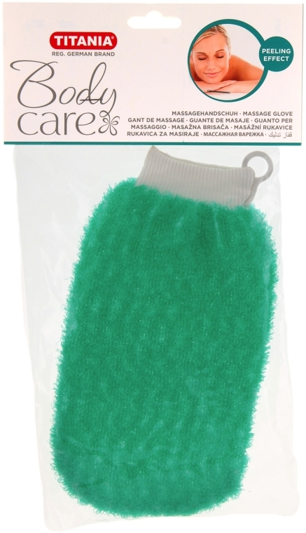 Массажная рукавичка отшелушивающая, зеленая - Titania
