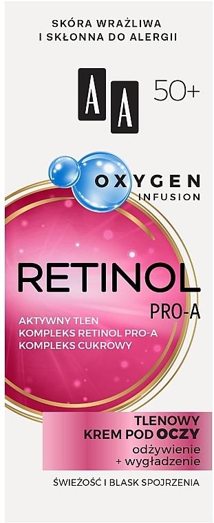 Кислородный крем для век 50+ - AA Oxygen Infusion Retinol Pro-A Eye Cream