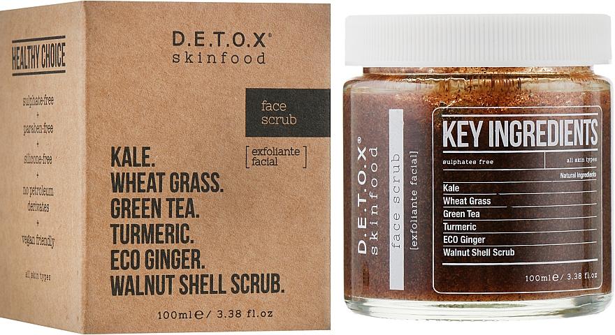 Очищающий скраб для кожи лица - D.E.T.O.X. Skinfood Face Scrub