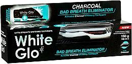 """Духи, Парфюмерия, косметика Набор """"Свежее дыхание"""" с черно-белой щеткой - White Glo Charcoal Bad Breath Eliminator (t/paste/100ml + t/brush/1)"""