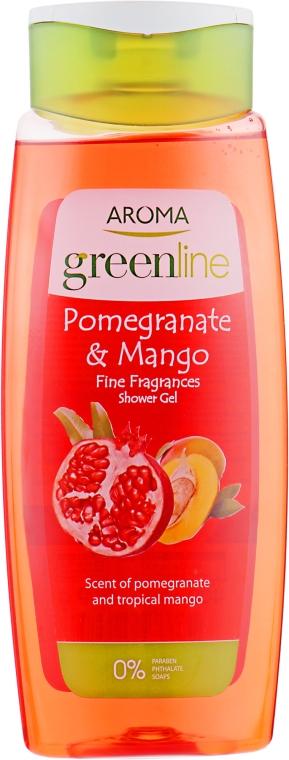 "Гель для душа ""Гранат и манго"" - Aroma Greenline Shower Gel ""Pomegranate & Mango"""
