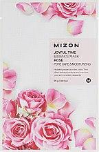 "Духи, Парфюмерия, косметика Тканевая маска для лица ""Роза"" - Mizon Joyful Time Essence Mask"