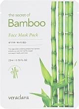 Духи, Парфюмерия, косметика Тканевая маска для лица с экстрактом бамбука - Veraclara Bamboo Face Mask