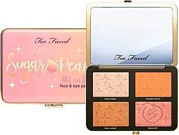 Палетка для макияжа глаз и лица - Too Faced Sugar Peach Wet and Dry Face & Eye Palette — фото N2