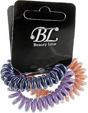 Набор резинок для волос, 405004, темно-синяя+пудровая+фиолетовая - Beauty Line