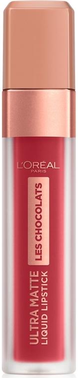 Ультра-матовая жидкая помада для губ - L'Oreal Paris Les Chocolats Ultra Matte Liquid Lipstick