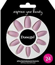 Набор искусственных ногтей с клеем, 3054 - Donegal Express Your Beauty — фото N1