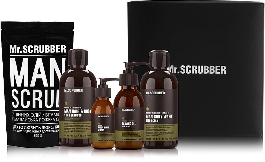 Набор для мужчин - Mr.Scrubber Beauty Box For Man (scr/200 g + sh/gel/250 ml + shm/250 ml + gel/125 ml + ash/cr/100 ml)