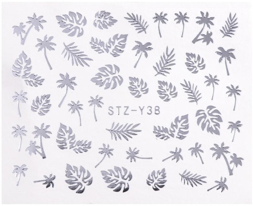 Водные наклейки для ногтей серебро, STZ - Vizavi Professional