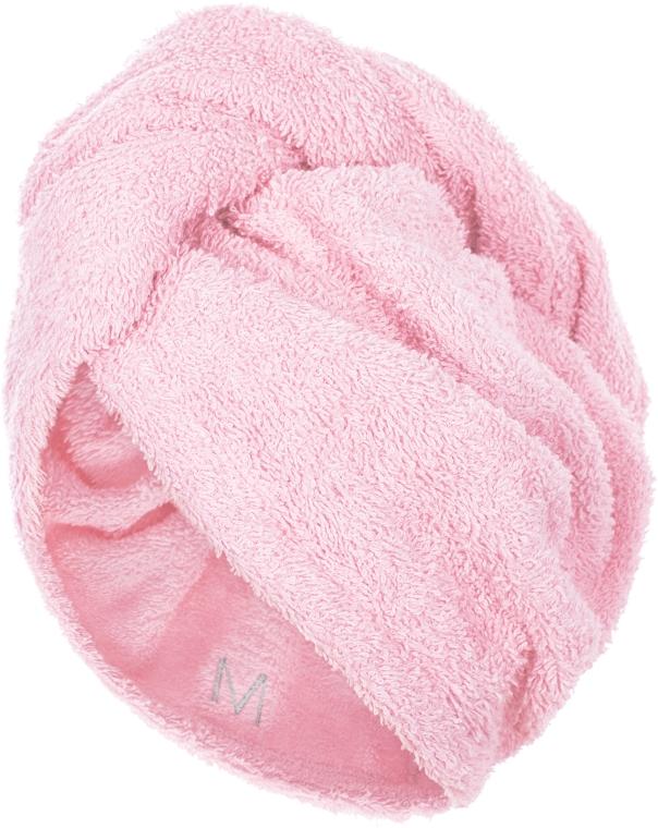 Полотенце-тюрбан для сушки волос, пудровое - Makeup