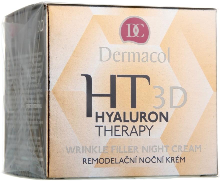Ночной крем для лица с чистой гиалуроновой кислотой - Dermacol Hyaluron Therapy 3D Wrinkle Night Filler Cream