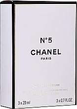 Духи, Парфюмерия, косметика Chanel N°5 Purse Spray Refills - Парфюмированная вода (edp/3x20ml)