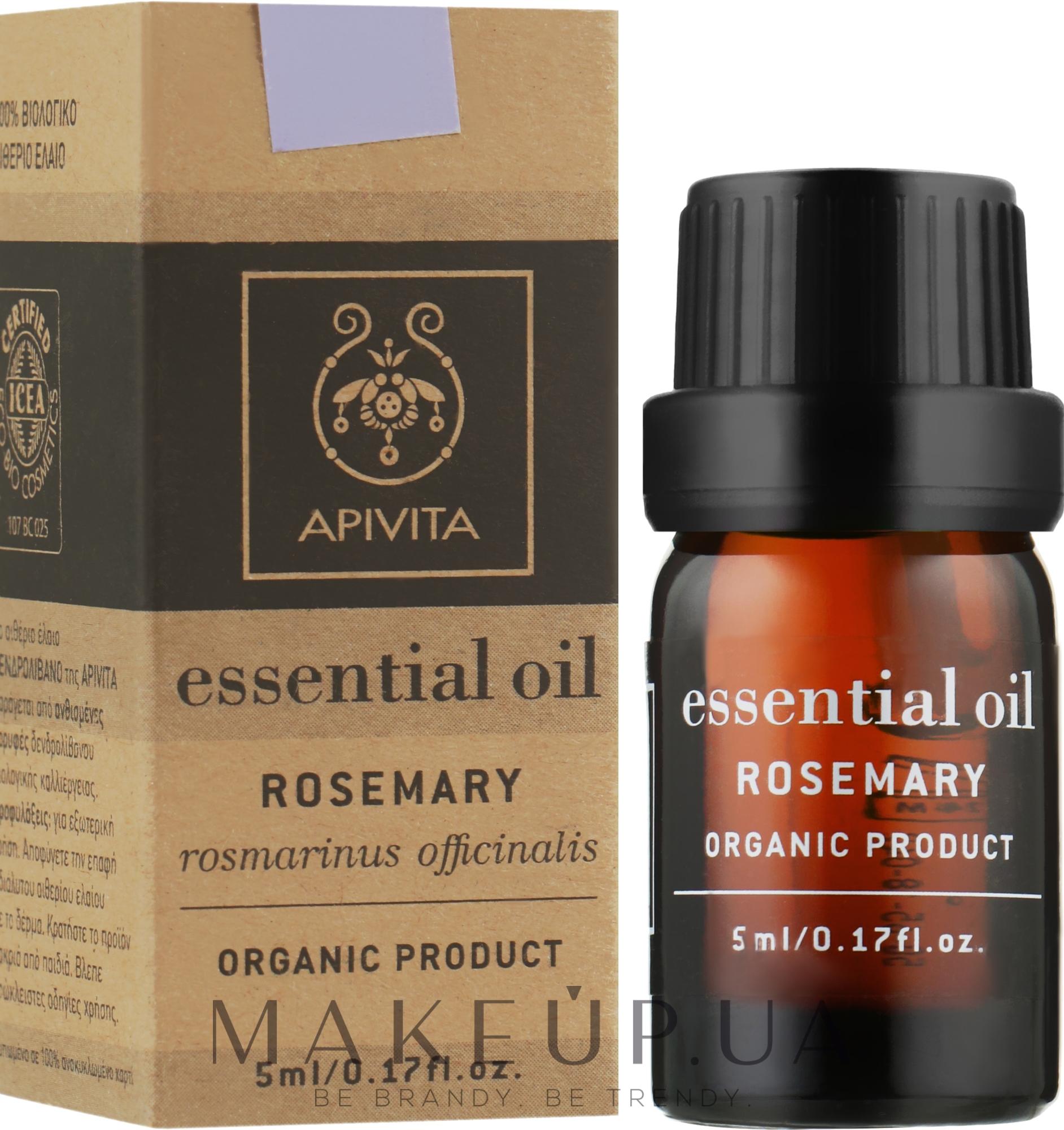 Ефірне масло - Apivita Aromatherapy Organic Rosemary Oil — фото 5ml