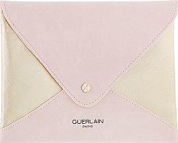 Духи, Парфюмерия, косметика Косметичка плюшевая, пудрово-золотая - Guerlain Paris Cosmetic Bag