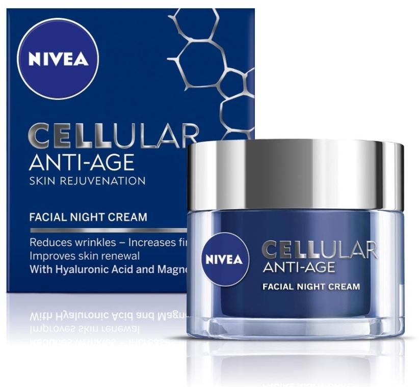 Ночной антивозрастной крем - Nivea Cellular Anti-Age Skin Rejuvenation Night Cream