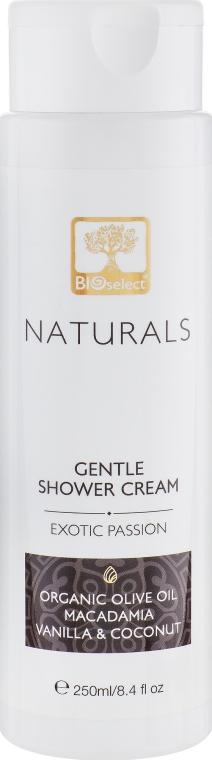 """Нежный крем-гель для душа """"Экзотическая страсть"""" - BIOselect Naturals Shower Cream Gel"""
