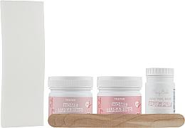 Парфумерія, косметика Набір для депіляції всього тіла, для новачків - Mary Babe Testers (sugar/paste/2x250g + b/powder/80g + spatula/3pcs + strips/15pcs)