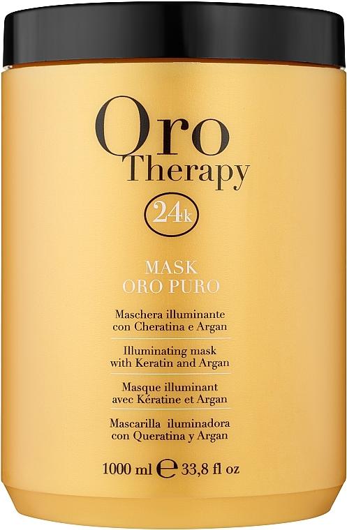 Восстанавливающая маска с активными микрочастицами золота - Fanola Oro Therapy Oro Puro Mask