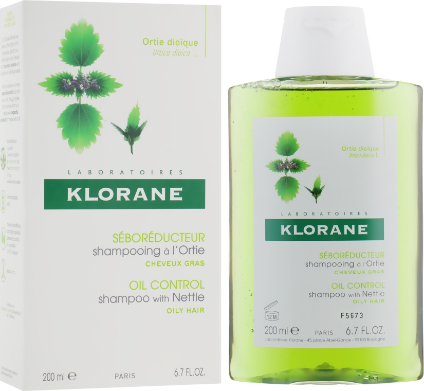 Шампунь c крапивой для жирных волос - Klorane Seboregulating Treatment Shampoo with Nettle Extract