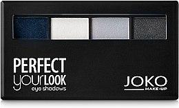 Духи, Парфюмерия, косметика Тени для век четырехцветные - Joko Perfect Your Look Quattro Eye Shadows New