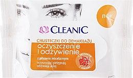 """Духи, Парфюмерия, косметика Салфетки """"Очищение и питание"""", 20шт - Cleanic Make Up Removal Wipes"""