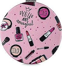 Зеркало косметическое круглое, You Are Amazing - Lily Cosmetics — фото N2