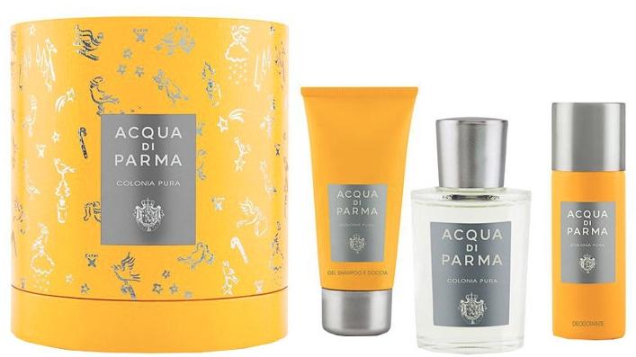 Acqua Di Parma Colonia Pura - Набор (edc/100ml + sh/gel/75ml + deo/50ml)