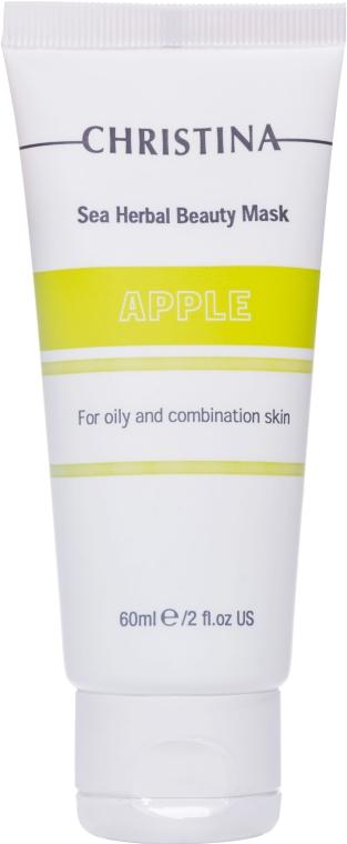 Яблочная маска красоты для жирной и комбинированной кожи - Christina Sea Herbal Beauty Mask Green Apple