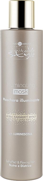 Маска придающая блеск - Hair Company Inimitable Style Illuminating Mask