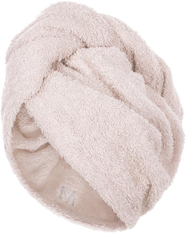 Полотенце-тюрбан для сушки волос, бежевое - Makeup