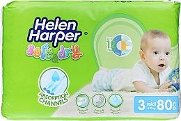 Духи, Парфюмерия, косметика Детские подгузники Baby Midi 3, 4-9 кг, 80 шт. - Helen Harper