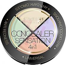 Духи, Парфюмерия, косметика Палетка корректоров - Eveline Cosmetics Concealer Sensation 4in1