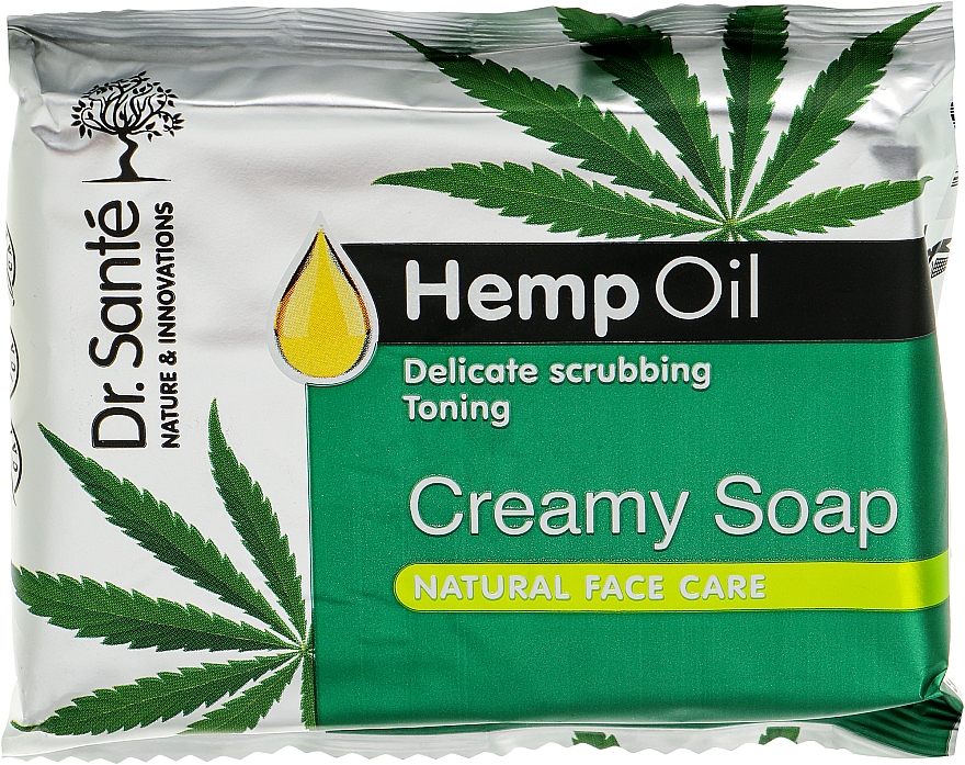 Крем-мыло с маслом конопли - Dr. Sante Natural Therapy Creamy Soap