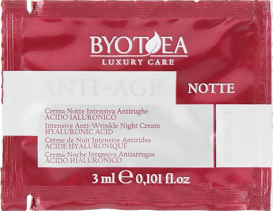 "Ночной крем против морщин ""Интенсив"" с гиалуроновой кислотой - Byothea Anti-Age Intensive Anti-Wrinkle Night Cream Hyaluronic Acid (пробник)"