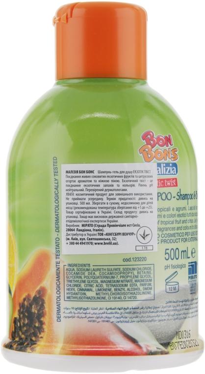 Шампунь-гель для душа Exotic Twist - Malizia Bon Bons Shampoo & Body Wash — фото N2