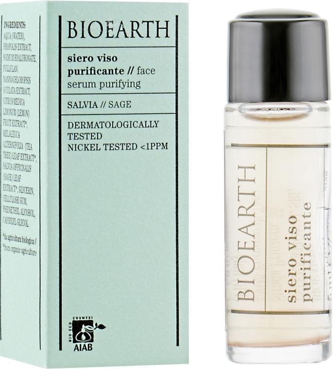 Очищающая сыворотка для лица - Bioearth Clarifying Serum (мини)