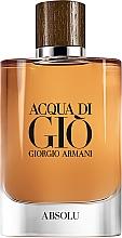 Духи, Парфюмерия, косметика Giorgio Armani Acqua di Gio Absolu - Парфюмированная вода